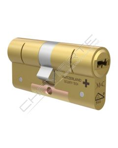 Pack 2 x Cilindros M&C C-Max MIRROR modulock 32mm x 32mm latão