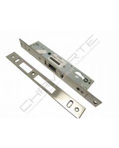 Fechadura de embutir alumínio Tesa 2240 sem trinco, entrada 20mm, niquelado