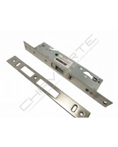 Fechadura de embutir alumínio Tesa 2240 sem trinco, entrada 25mm, niquelado