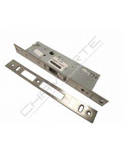 Fechadura de embutir alumínio Tesa 2240 sem trinco, entrada 30mm, niquelado