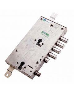 Fechadura Mottura, porta blindada (securemme) 3 pernos  85588S37T SX cilindro duplo com retentor