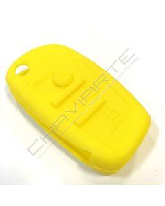 Capa silicone Audi, três botões, amarela