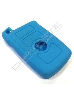 Capa silicone BMW, três botões, azul bébé