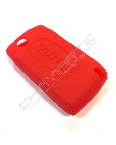 Capa Silicone Citröen Dois Botões Vermelha
