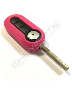 Caixa Rosa para Ccomando Flip de Três Botões Fiat SIP22