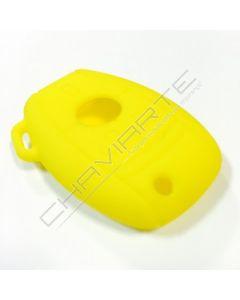 Capa silicone Mercedes, três botões, amarela
