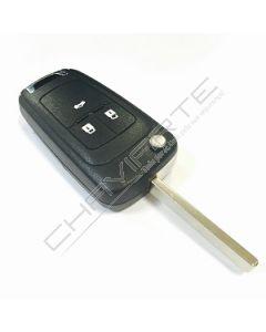 Comando Compatível Flip para Opel Insignia, Astra J 3 Botões