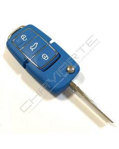 Caixa de Três Botões Para Comando Volkswagen Azul
