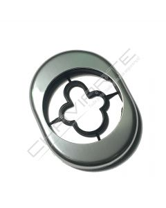 Espelho Oval AF de exterior AA, argento, ME50/AA