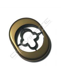 Espelho Oval AF de exterior AB, bronze, ME50/AB