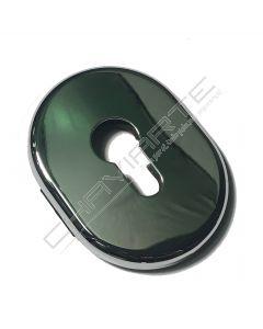 Espelho oval AF interior, cromado brilhante