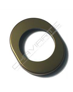 Espelho oval exterior Dierre, para escudo de segurança de 42 mm, bronze