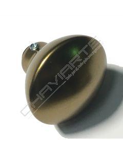 Puxador Dierre New Creta de bola fixa, bronze, ZPM000021