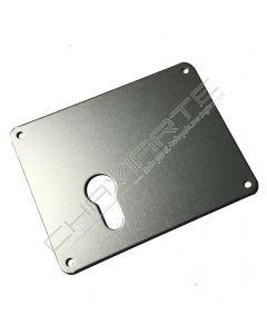 Espelho Mottura 95422SAA00 para cilindro europeu, esquerdo, alumínio anodizado