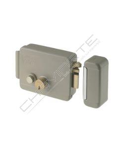 Fechadura Yale eléctrica com cilindro duplo fixo e botão interno E60, direita, Y68800601