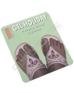 Meia palmilha em gel Tacco Holiday para chinelos de meter o dedo