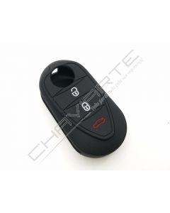 Capa silicone Alfa Romeo, três botões, negro