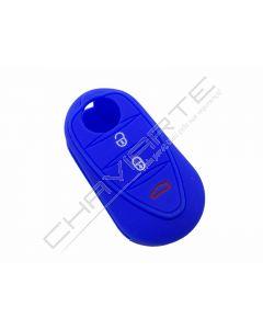 Capa silicone Alfa Romeo, três botões, azul