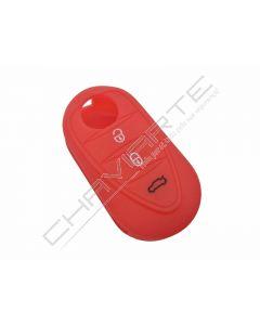 Capa silicone Alfa Romeo, três botões, vermelho