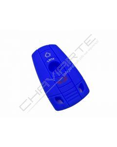 Capa silicone BMW, três botões, azul