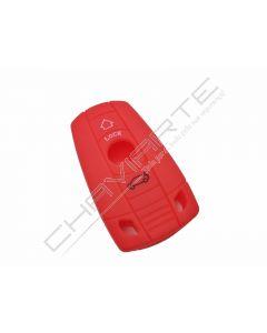 Capa silicone BMW, três botões, vermelho