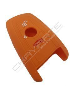 Capa silicone BMW, três botões, laranja