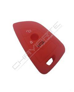 Capa Silicone Bmw 3 Botões Proximidade Vermelho Nº73