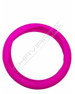 Capa de volante em silicone, rosa