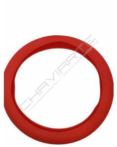 Capa de volante em silicone, vermelho