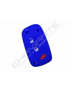 Capa silicone Fiat, flip três botões, azul