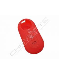 Capa silicone Fiat, flip três botões, vermelho