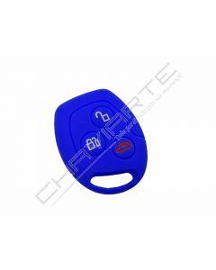 Capa silicone Ford, três botões, azul
