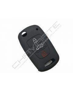 Capa silicone Kia, três botões, negra