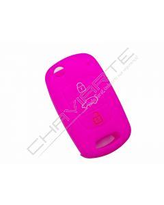 Capa silicone Kia, três botões, rosa