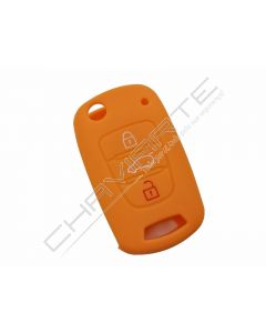 Capa silicone Kia, três botões, laranja