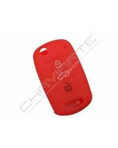 Capa silicone Kia, três botões, vermelho