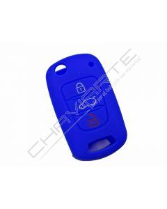 Capa silicone Kia, três botões, azul