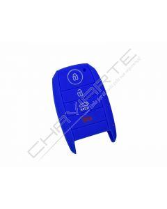 Capa silicone Kia, quatro botões, proximidade, azul
