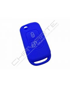 Capa silicone Mercedes, dois botões, azul