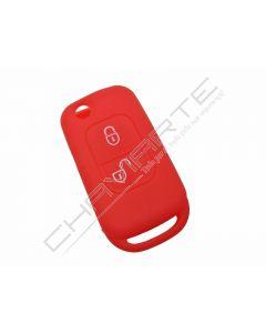 Capa silicone Mercedes, dois botões, vermelho