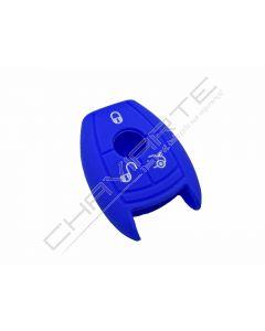 Capa silicone Mercedes, três botões, azul