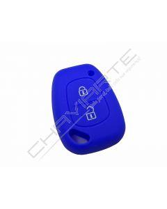 Capa silicone Renault, dois botões, azul