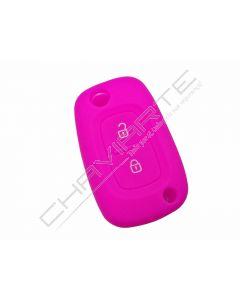 Capa silicone Renault, dois botões, rosa