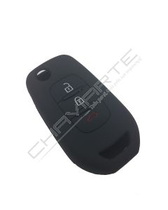 Capa Silicone Renault Três Botões Negra