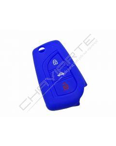 Capa silicone Toyota, três botões, azul