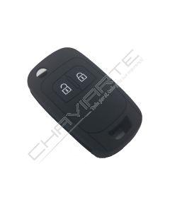 Capa Silicone Opel Flip Dois Botões Negra