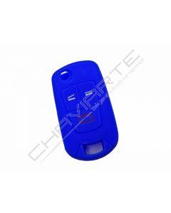 Capa silicone Opel, flip três botões, azul