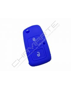 Capa silicone Volkswagen, dois botões, azul