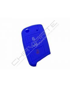 Capa silicone Volkswagen, três botões, azul