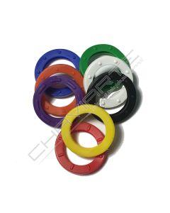 Argola plástica de cor